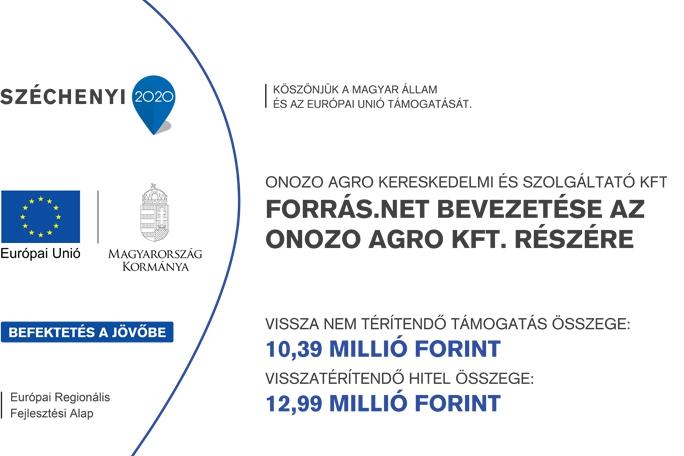 Forrás.net bevezetése az ONOZO AGRO KFT. részére